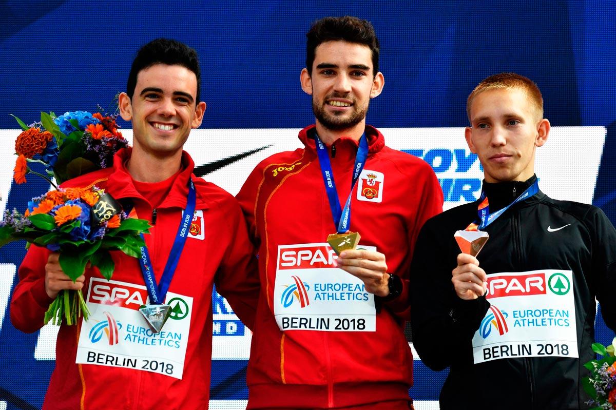 European Championships: Álvaro Martín y Diego García reciben el oro y la plata en los 20 km marcha