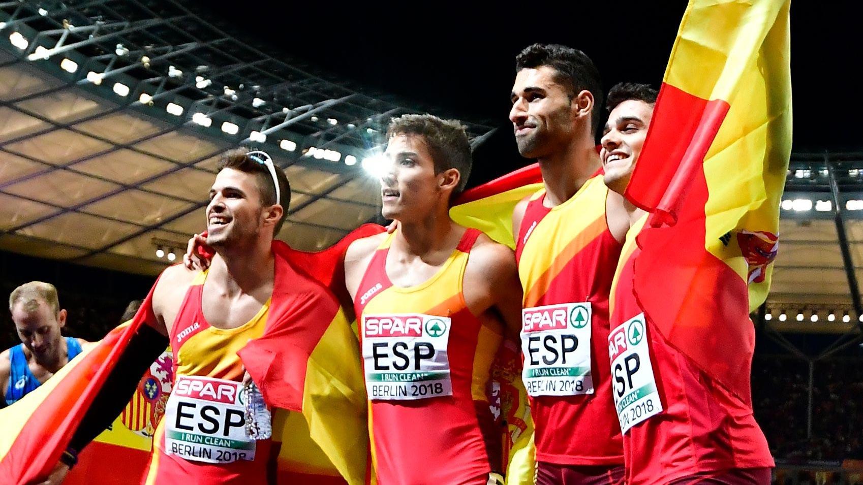 European Championships. Bronce del relevo 4x400m masculino