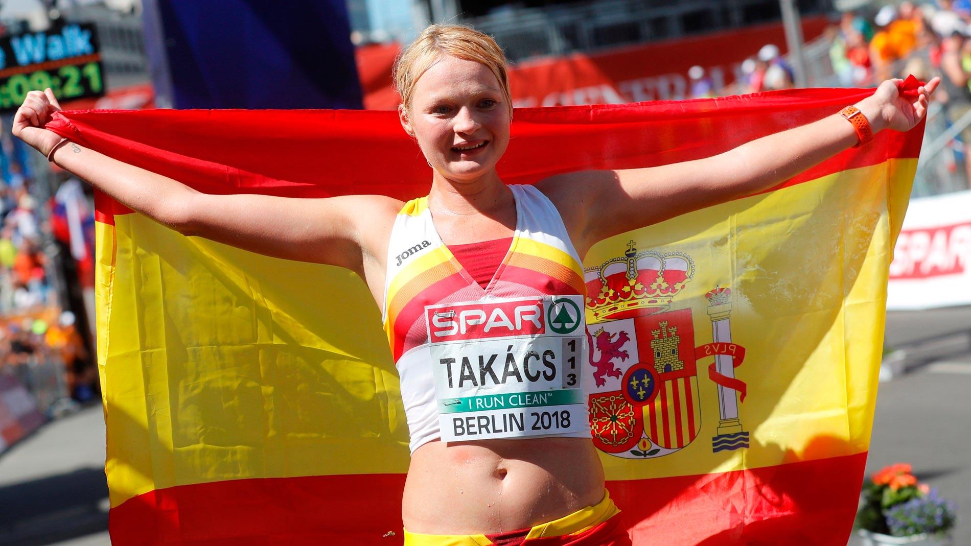 European Championships Julia Takacs, bronce en 50 km marcha, primera medalla española de atletismo