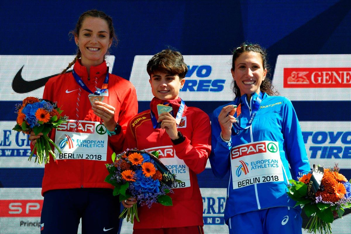European Championships: María Pérez recibe el oro en el podio de Berlín
