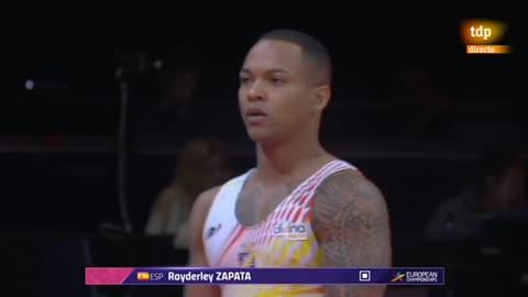 European Championships. Ray Zapata, séptimo en suelo