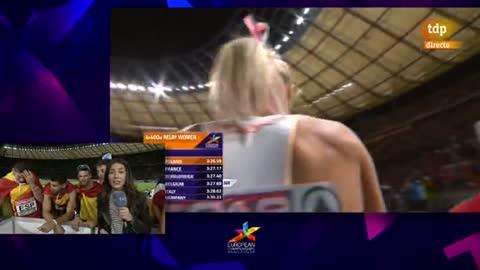 European Championships. El relevo español de 4x400m, ilusionado con su medalla de bronce