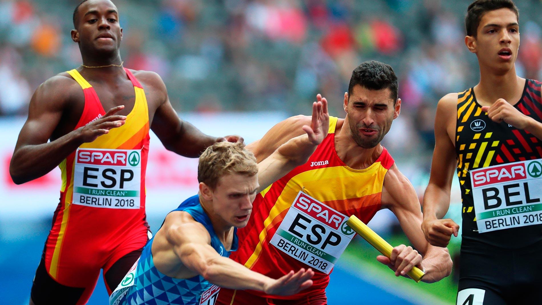 European Championships. El relevo masculino 4x400, a la final con suspense