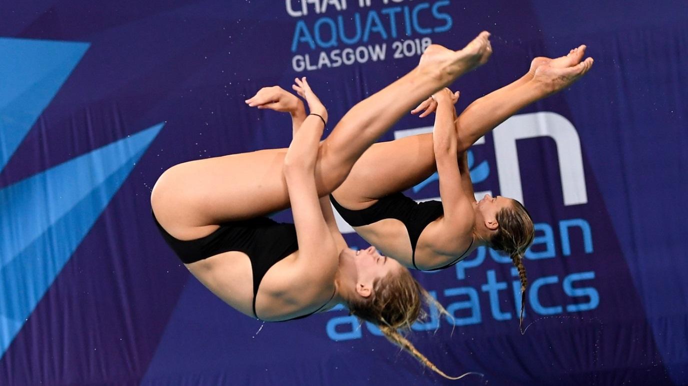 Natación Saltos Final 3M Sincro Femenino