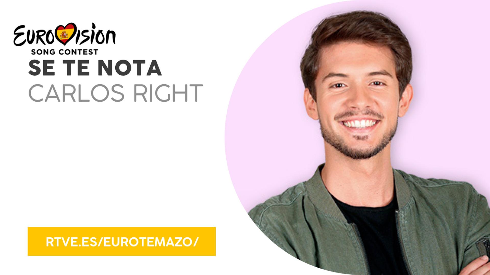 """Eurovisión 2019 - Eurotemazo: versión final de """"Se te nota"""", cantada por Carlos Right"""