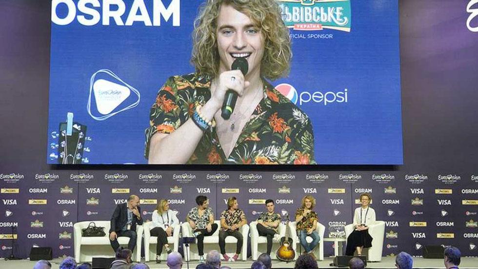 Eurovisión 2017: rueda de prensa de Manel Navarro, que actuará en la segunda parte de la final