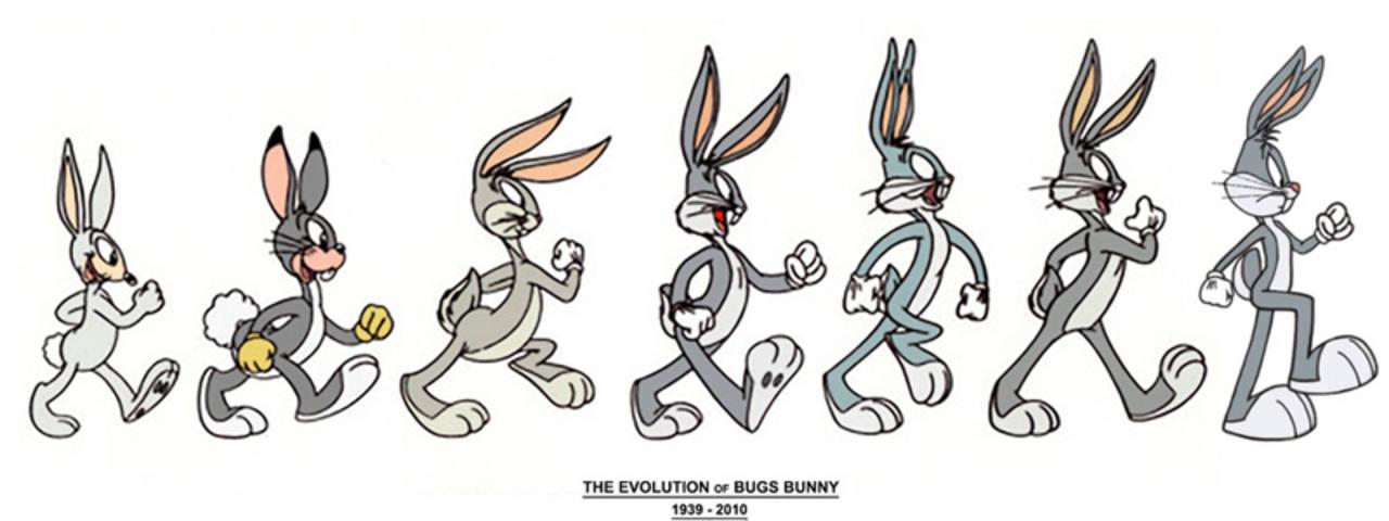 La evolución de Bugs Bunny
