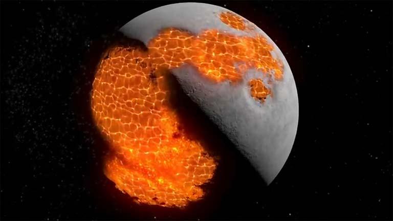 La evolución de la Luna