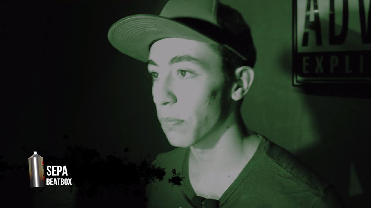 Exhibición de beatbox de Sepa, participante en el campeonato de España