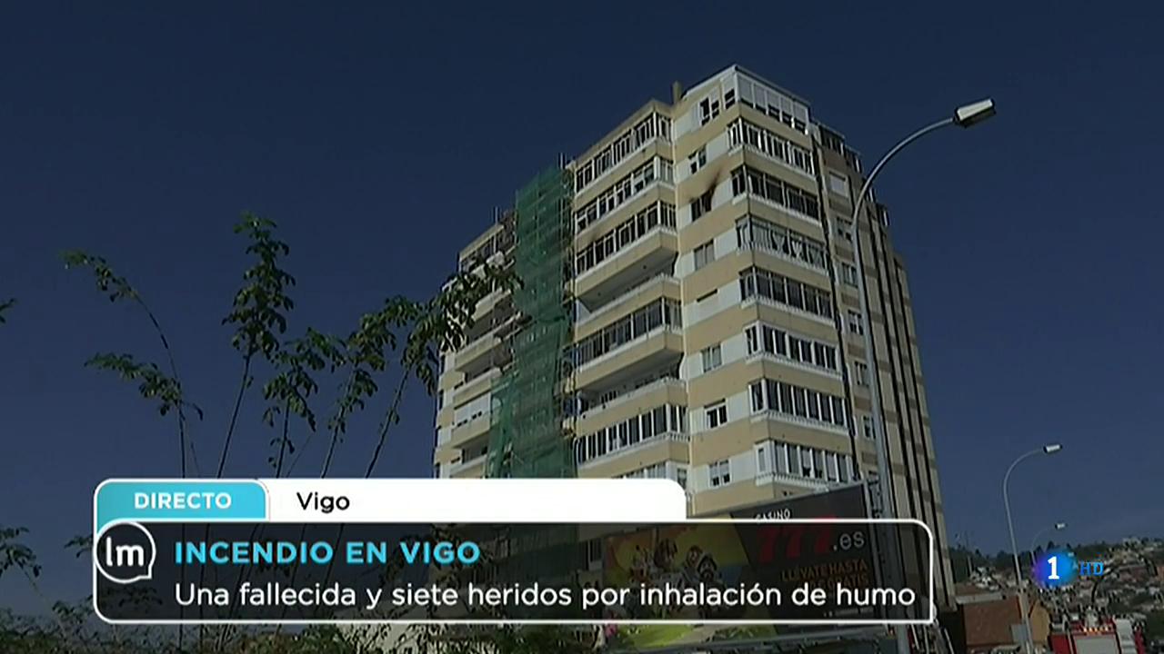 La Mañana - Una fallecida y siete heridos por inhalación de humo en Vigo