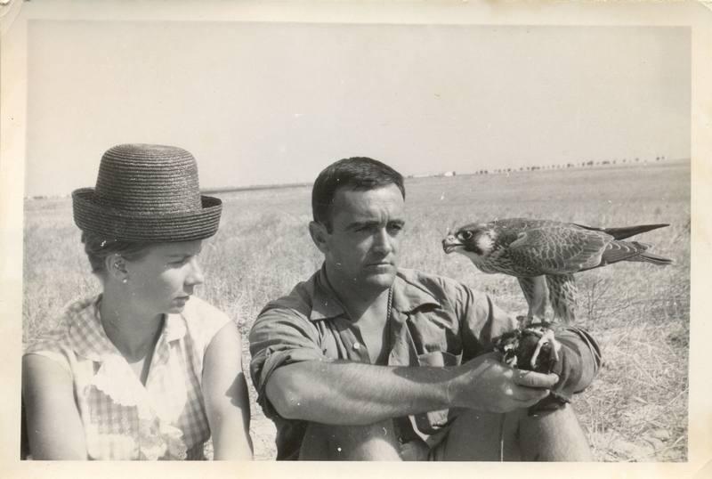 Félix con su esposa Marcelle, en una fotografia de los años 60 ( Familia Rodríguez de la Fuente)