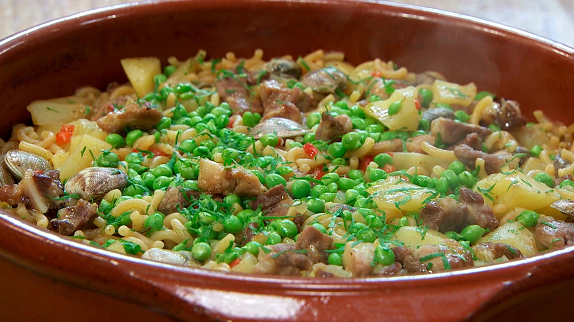 Torres en la cocina - Fideos a la cazuela con carne