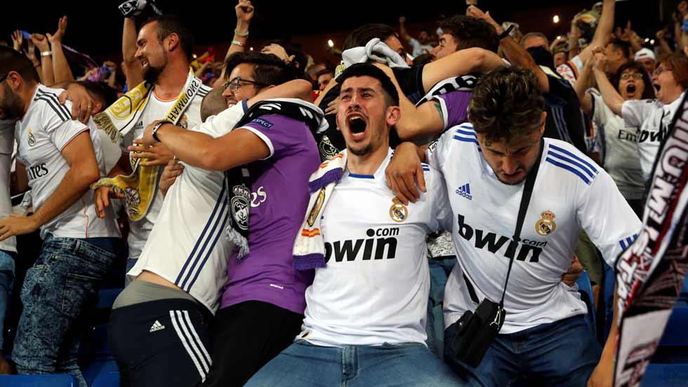 La fiesta del Madrid empieza en el Bernabéu