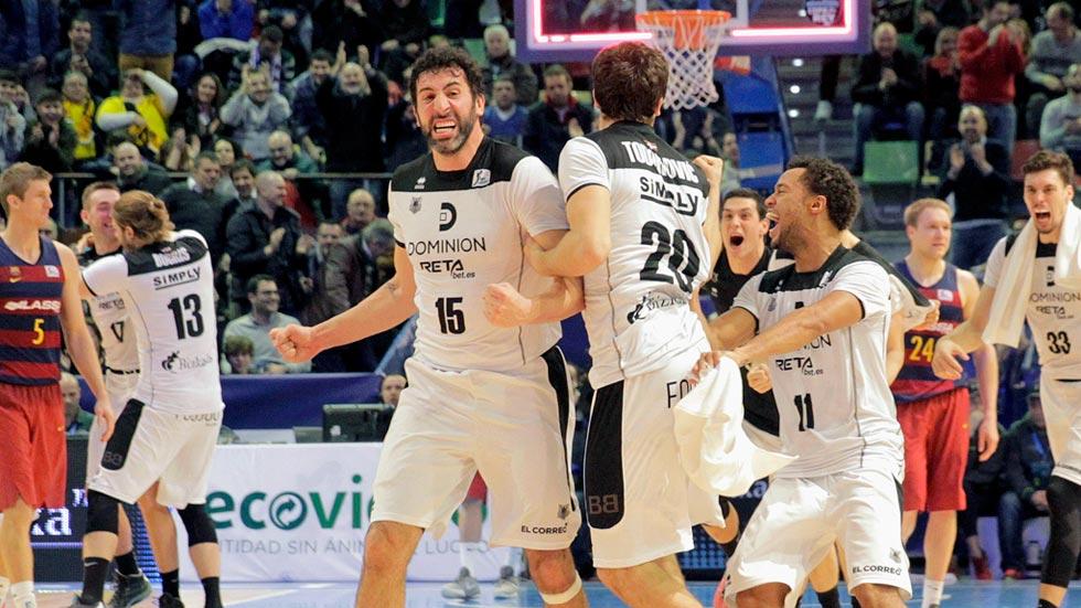 Final de infarto en la victoria del Dominion Bilbao sobre el Barça
