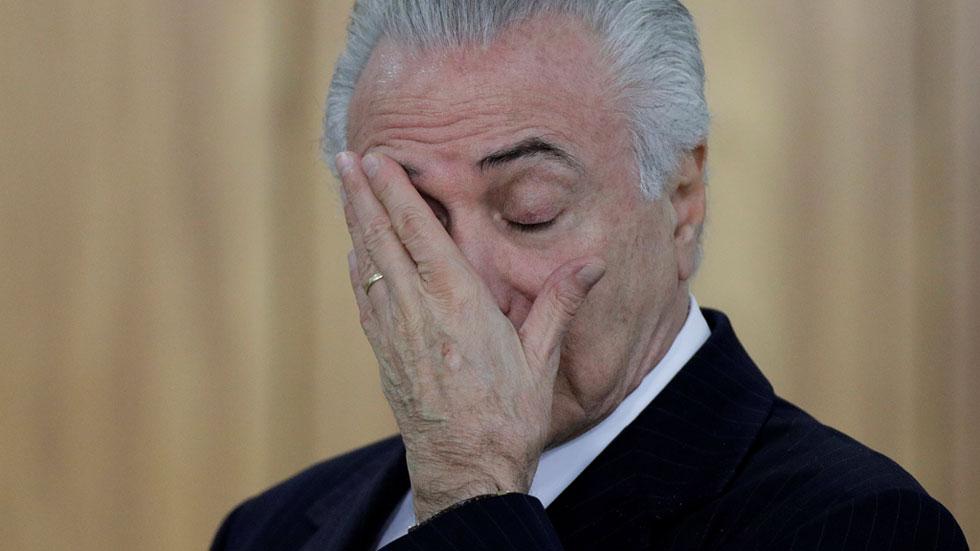 La Fiscalía de Brasil denuncia al presidente Michel Temer por corrupción pasiva