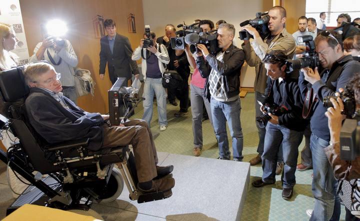 El físico británico Stephen Hawking, en Santiago de Compostela