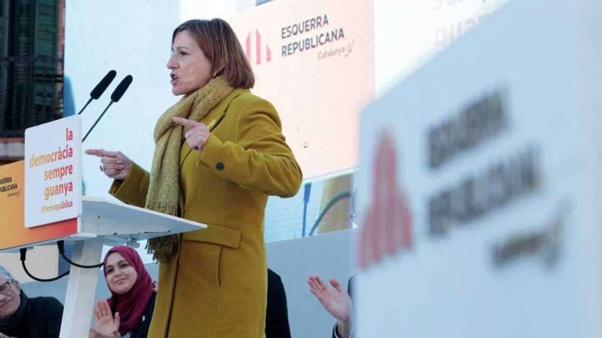 Forcadell niega la separación de poderes del Estado en un acto de ERC