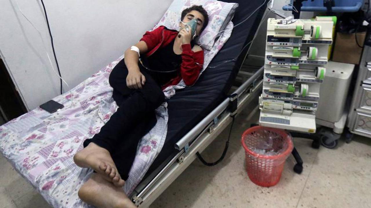 Foto de archivo de un afectado por un ataque químico en Alepo el 11 de agosto