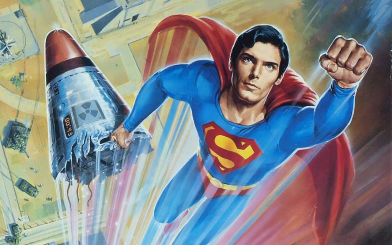 Fragmento del cartel de 'Superman IV: en busca de la paz'