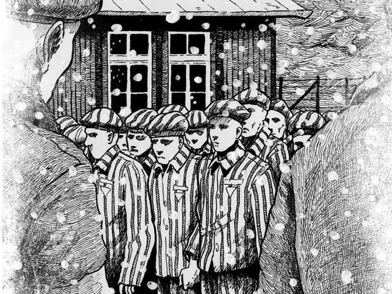 Fragmento de una ilustración de 'Deportado 4443'