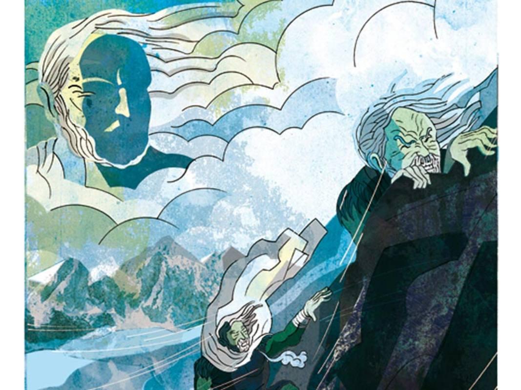 Fragmento de una ilustración de 'Los dientes de la eternidad'