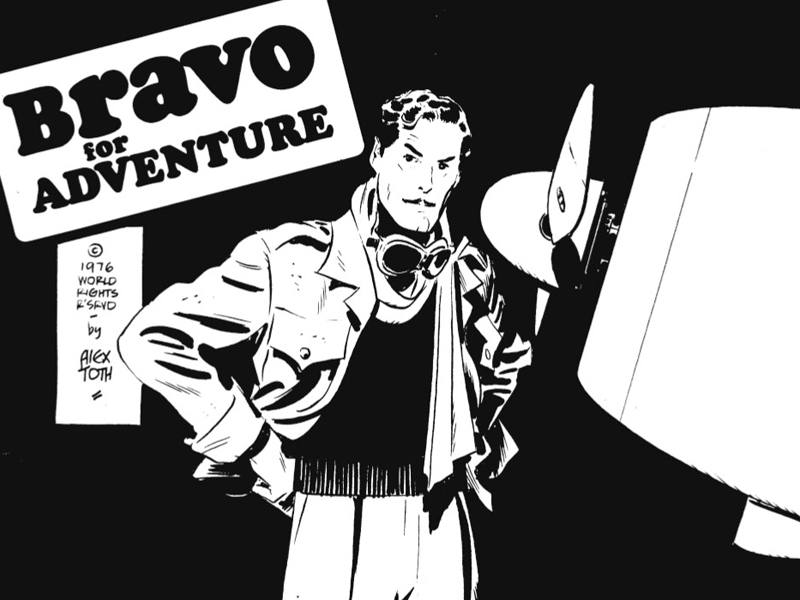 Fragmento de una página de 'Bravo for adventure', de Alex Toth