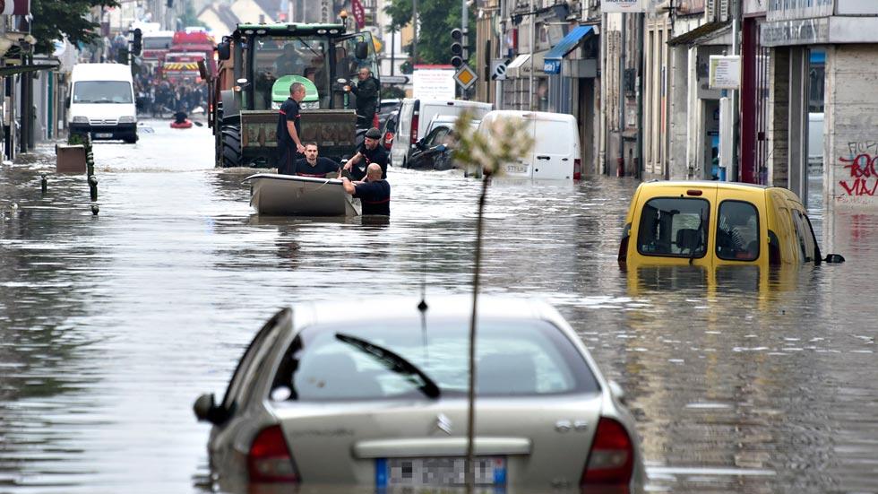 Francia sufre las mayores inundaciones en un siglo