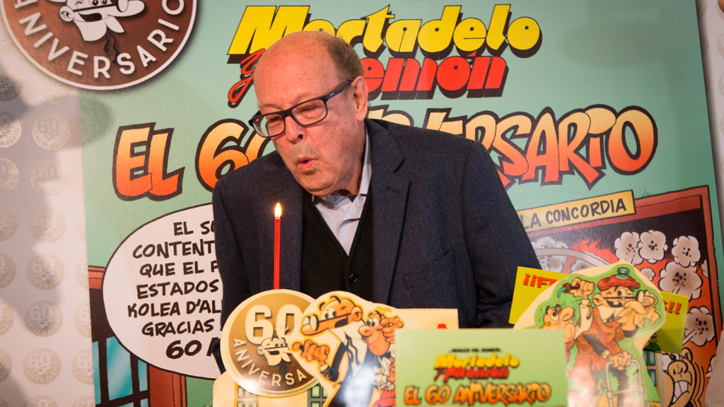 Francisco Ibáñez celebra el 60 aniversario de 'Mortadelo y Filemón'