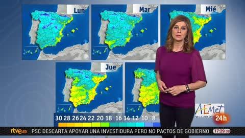 El frío y las lluvias vuelven a la Península y Baleares pero bajarán gradualmente hasta el fin de semana
