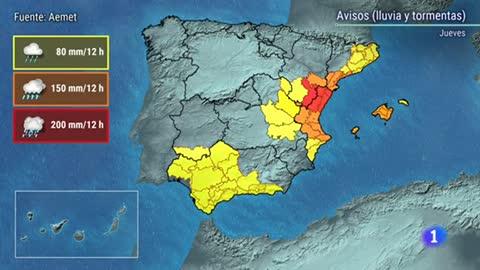 Las fuertes lluvias ponen en alerta extrema a Castellón y Teruel y en riesgo a otras 16 provincias