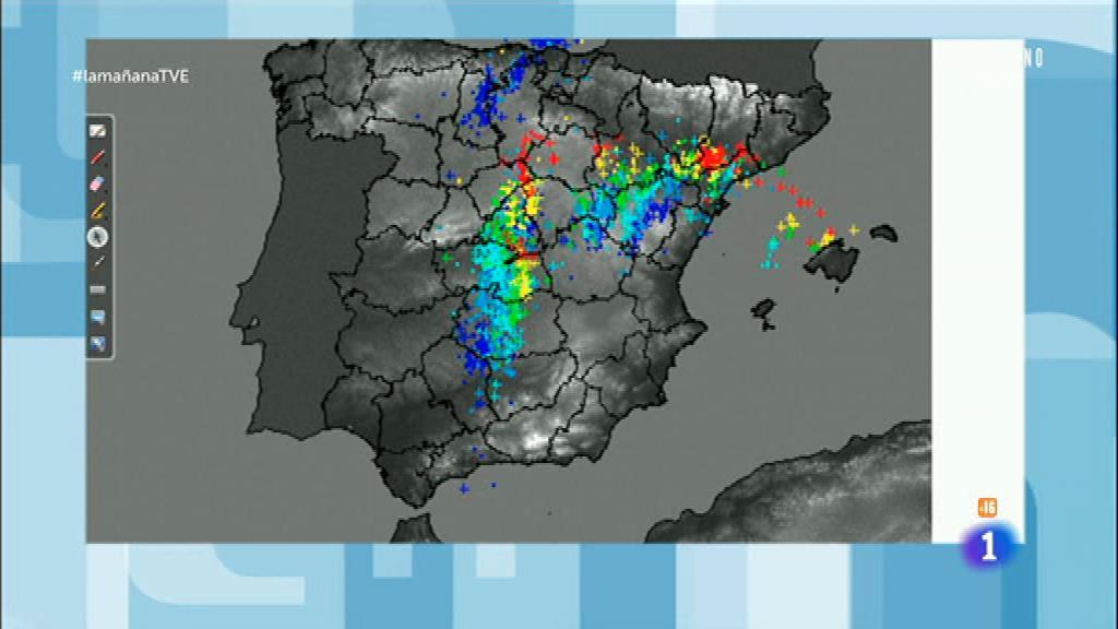 Fuertes tormentas en Madrid