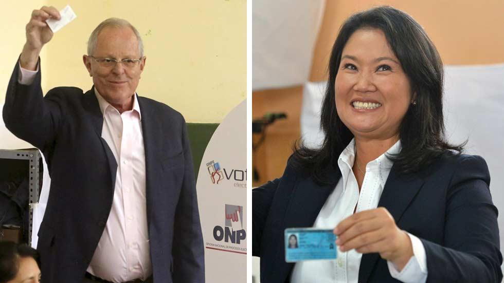 Fujimori y Kuczynski en empate técnico en las elecciones de Perú, según las últimas encuestas