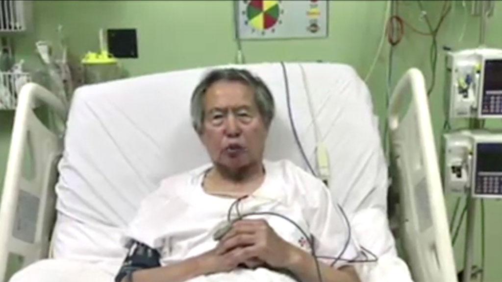 """Fujimori pide """"perdón"""" a los peruanos defraudados por su mandato"""
