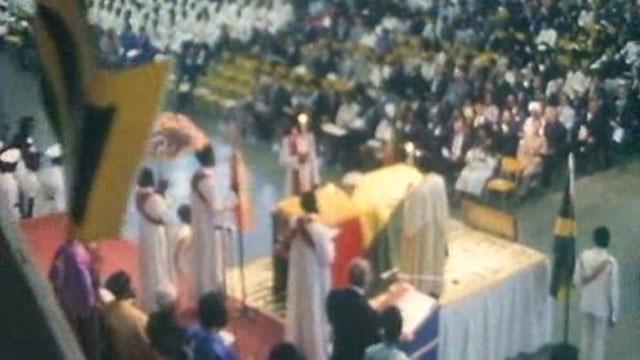 Funeral de Bob Marley en Jamaica 1981