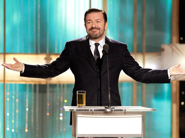 Ricky Gervais protagonista de la gala de entrega de los Globos de Oro