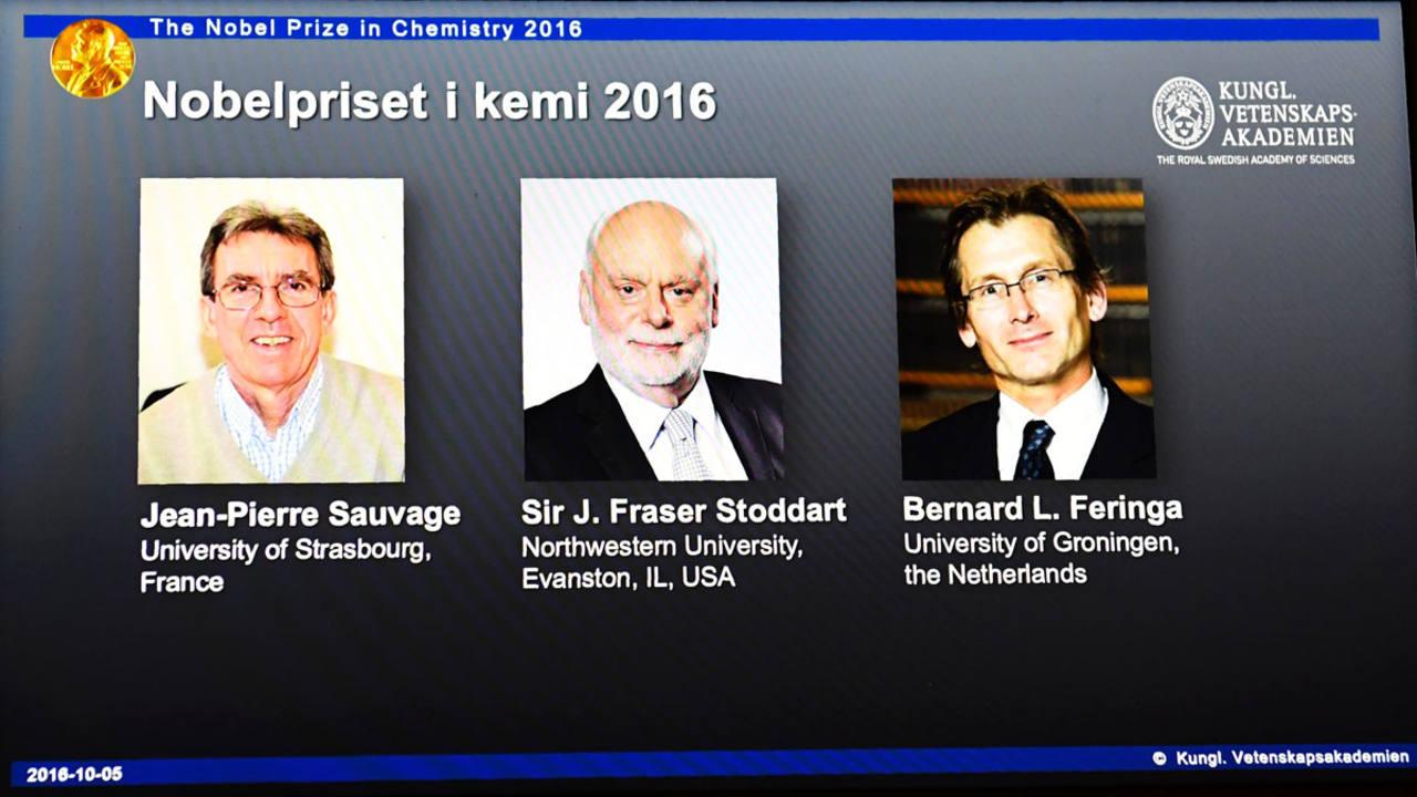 Los ganadores del premio Nobel de Química 2016