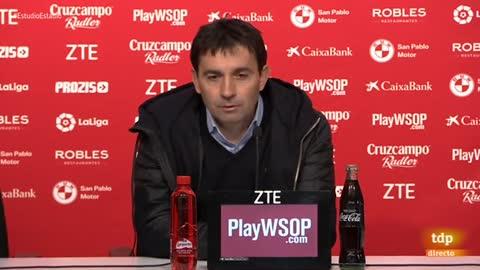 """Garitano: """"Hay que felicitar al Sevilla"""""""