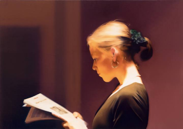 Gerhard Richter. 'Leyendo' (1994). San Francisco Museum of Modern Art.
