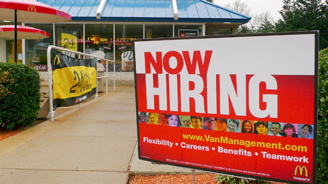 Gigantesca campaña de contratación de McDonald's en EE.UU.