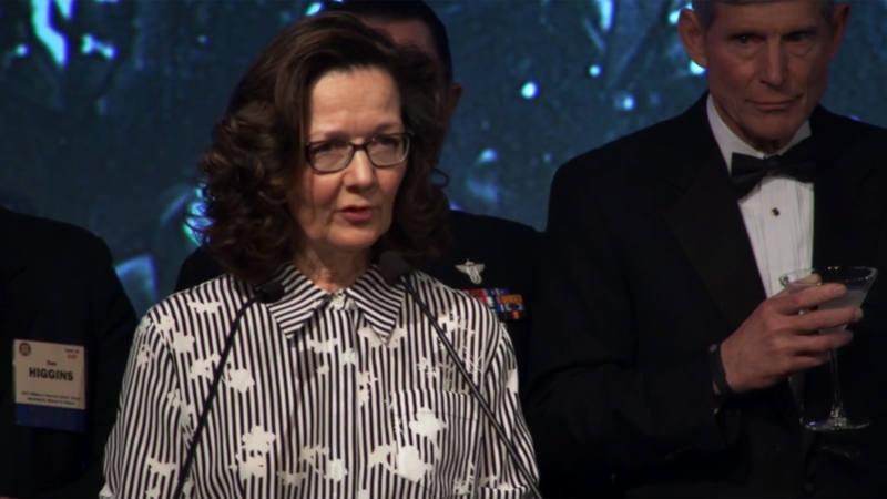 Gina Haspel en una captura de vídeo en una entrega de premios en 2017