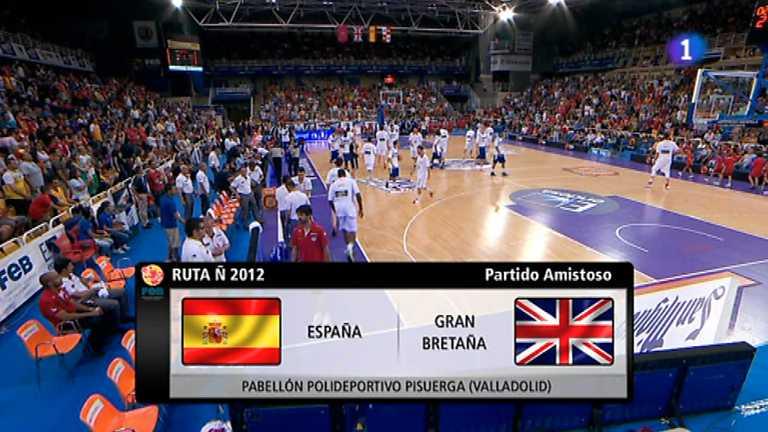 Baloncesto - Gira Preolímpica de la Selección española: España - Gran Bretaña