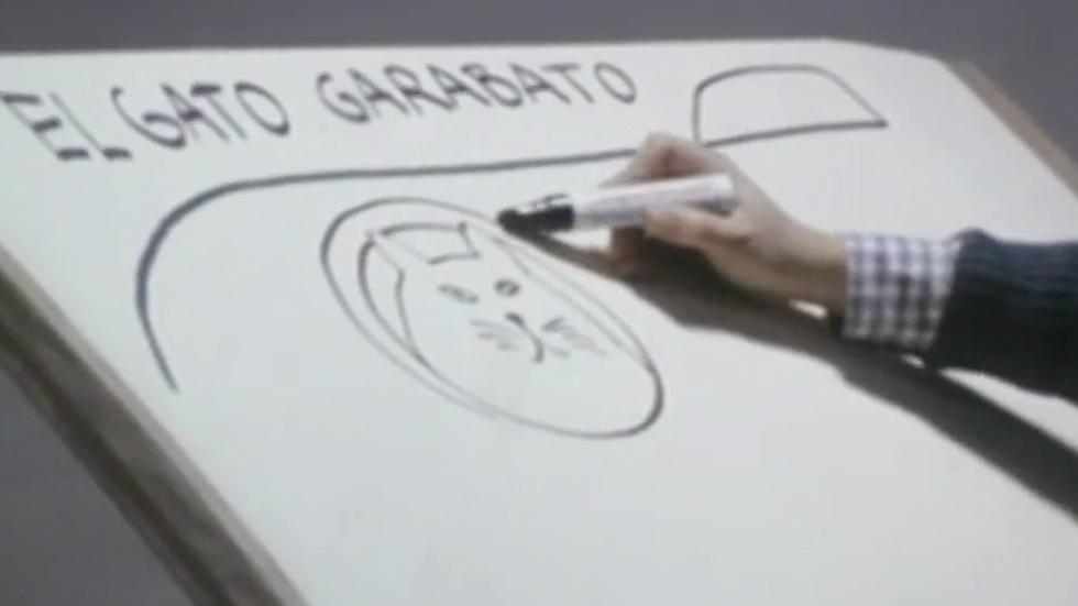 Gloria Fuertes recita 'El gato Garabato' en 'La cometa Blanca' (1982)