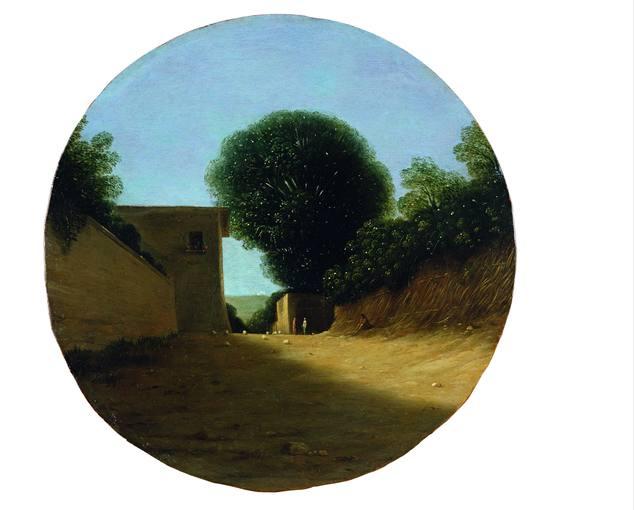 Goffredo Wals (1595-1638). 'Camino de campo con una casa' (hacia 1619-1620). Prestada por el Museo Fitzwilliam de Cambridge.