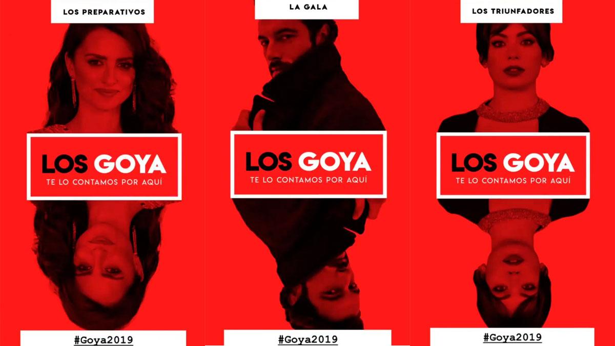 Los Goya, desde las redes de los nominados