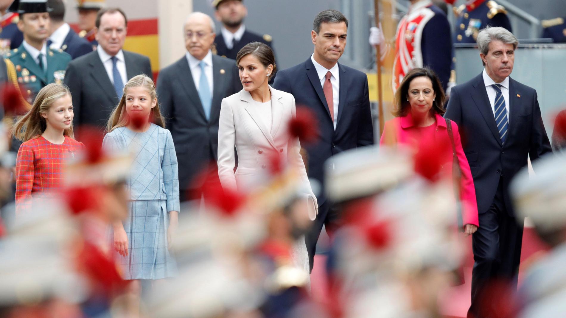 Gritos y abucheos a Pedro Sánchez en el Día de la Fiesta Nacional