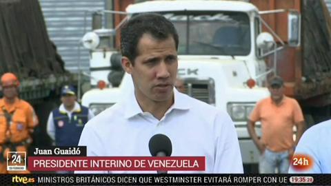 """Guaidó asegura que habrá """"amnistía"""" para los militares que ayuden al ingreso de ayuda humanitaria"""