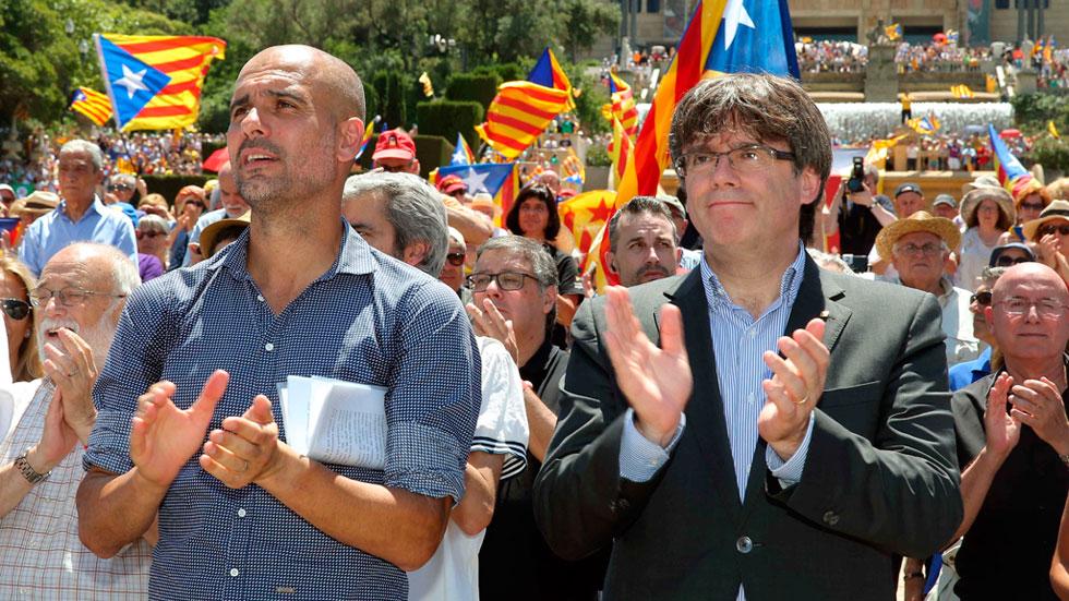 """Pep Guardiola: """"Votaremos aunque el Estado español no lo quiera"""""""