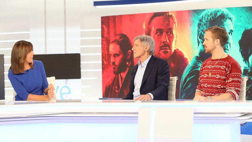 Harrison Ford y Ryan Gosling presentan en TVE 'Blade Runner 2046'