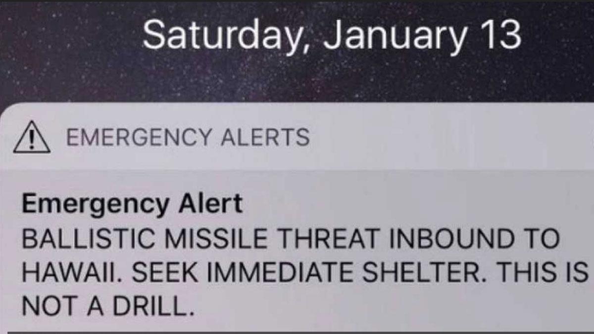 Hawai, en alerta por ataque de misiles... durante cuarenta minutos