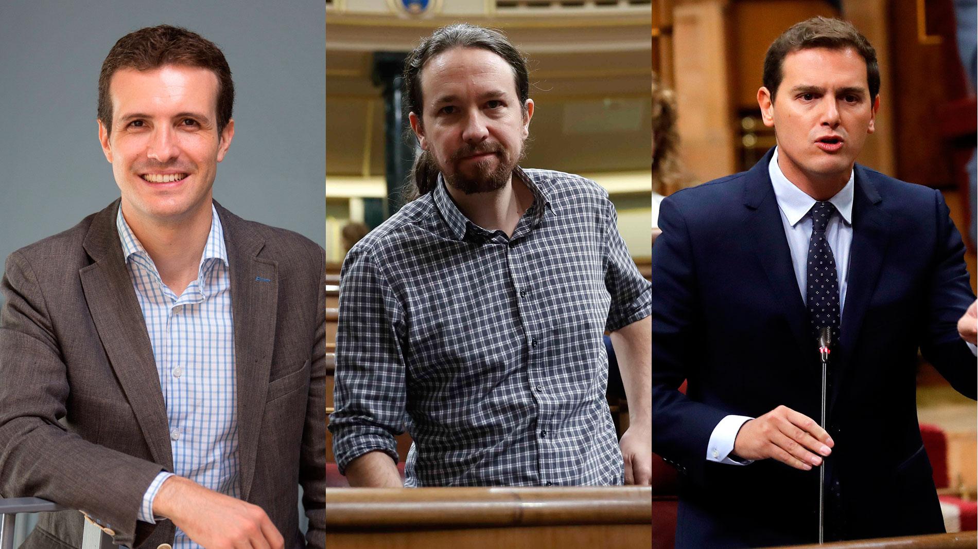 ¿Hay que reformar la Constitución? Pablo Casado, Pablo Iglesias y Albert Rivera opinan